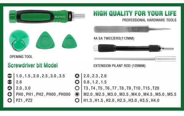 screwdriver KIT BIT screwdricers  Set ba-3039 (6)